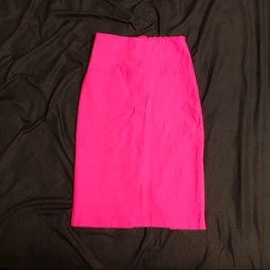 Dresses & Skirts - Hot pink pencil skirt - stretch